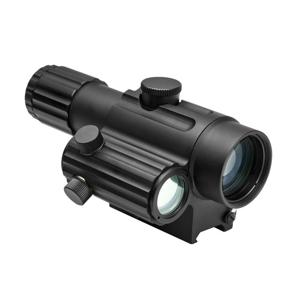 NcStar Dual Urban Optic 4X34mm with Offset Green Dot Rifle Scope- Right handed