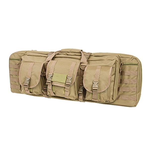 "NcStar Tactical Double Padded Carbine Rifle Range Gun Case Bag 42"" -TAN color"