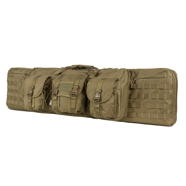 "NcStar Tactical Double Padded Carbine Rifle Range Gun Case Bag 46"" -TAN color"