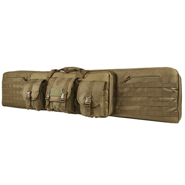 "NcStar Tactical Double Padded Carbine Rifle Range Gun Case Bag 55"" -TAN color"