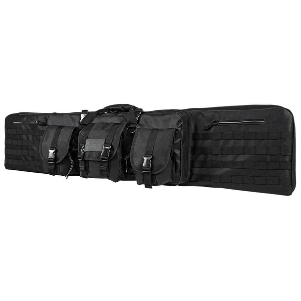 "NcStar Tactical Double Padded Carbine Rifle Range Gun Case Bag 55""- Black"