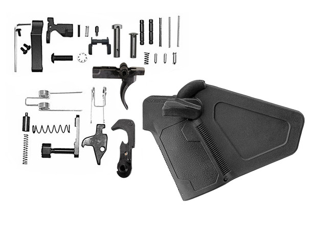 Lower Parts Kit AR15 223/5.56 with AR15 Featureless Grip | AR15 LOWER PART KIT, AR15 LPK