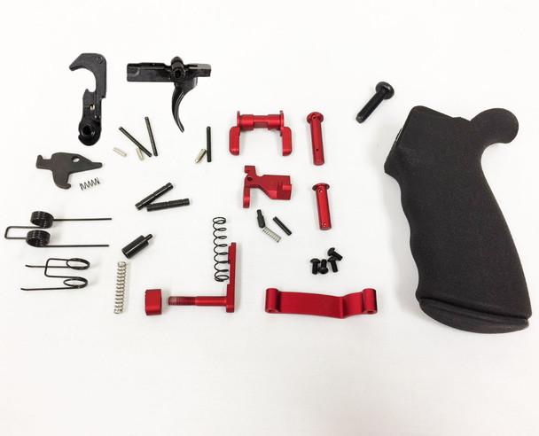 RED- Complete LPK - Lower Parts Kit AR15 223/5.56 | AR15 LOWER PART KIT, AR15 LPK  - RED