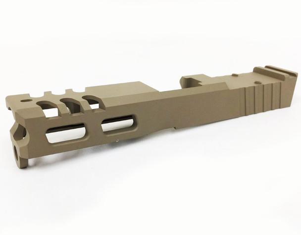 9mm Slide GEN-3 RMR cut Tungsten for Glock 19- U.S Made FDE