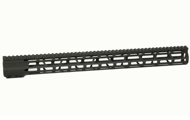 "19.25"" Super Slim M-LOK Handguard Free Float AR15 223 5.56- clamp-on"