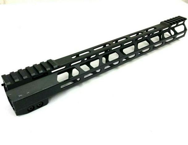 "15"" Super Slim MLok Handguard Free Float Anti-Rotation-tab AR15 223 5.56 - Clamp on style"