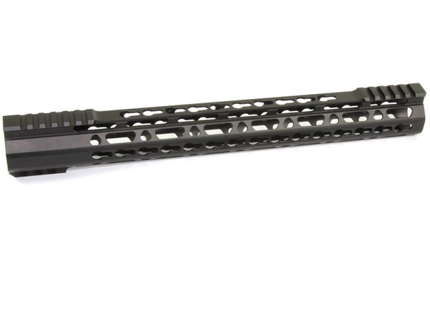 "17"" Super Slim Keymod Handguard Free Float partial Top cut - Clamp on AR15 223 5.56"