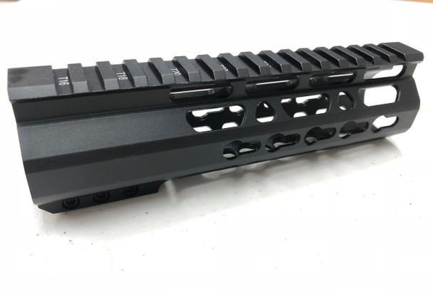 "7"" Super Slim Keymod Handguard Free Float - CLAMP ON style AR15 223 5.56"