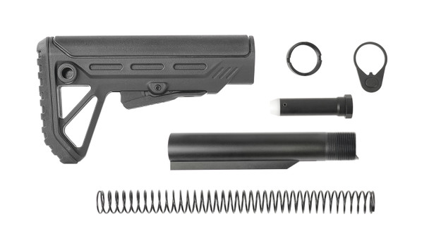 SURGE Carbine stock Complete Kit Black color AR15 223/5.56