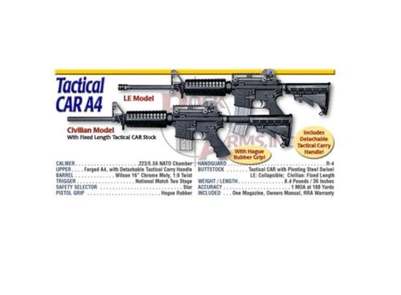 Rock River Arms Tactical Car A4 A2 Carry Handle Assembly 223 5 56 Impact Guns