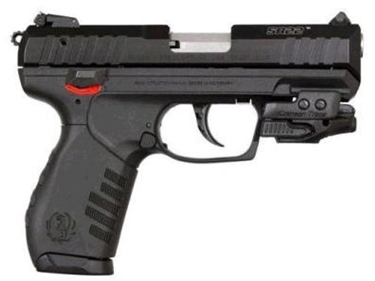 Ruger SR22 Pistol, 22LR, W/Crimson Trace Laser, 3 5