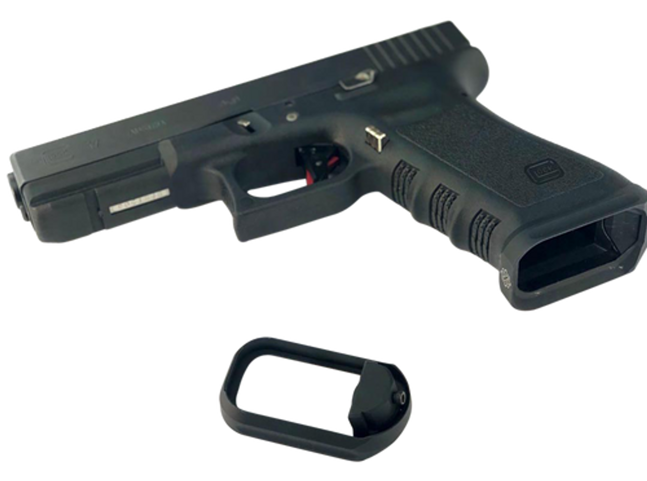 Cross Armory Flared Magwell Compatible With Glock Gen1 3 Aluminum Black Hardcoat Anodized Impact Guns