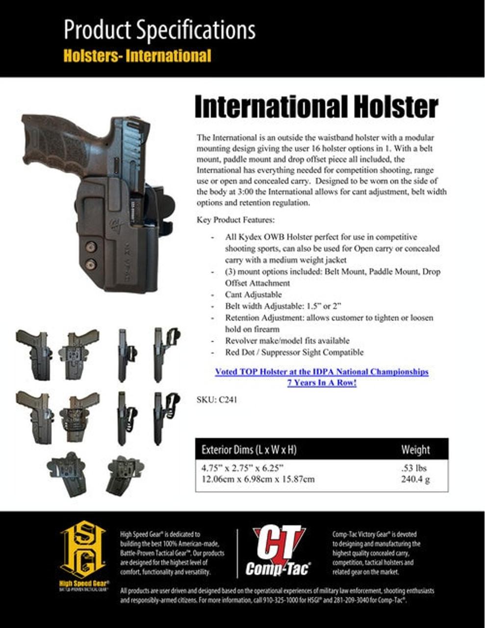 "629 S/&W 66 686 6/""Nylon Tactical Drop Leg Holster w// Bullet Loops USA MADE"