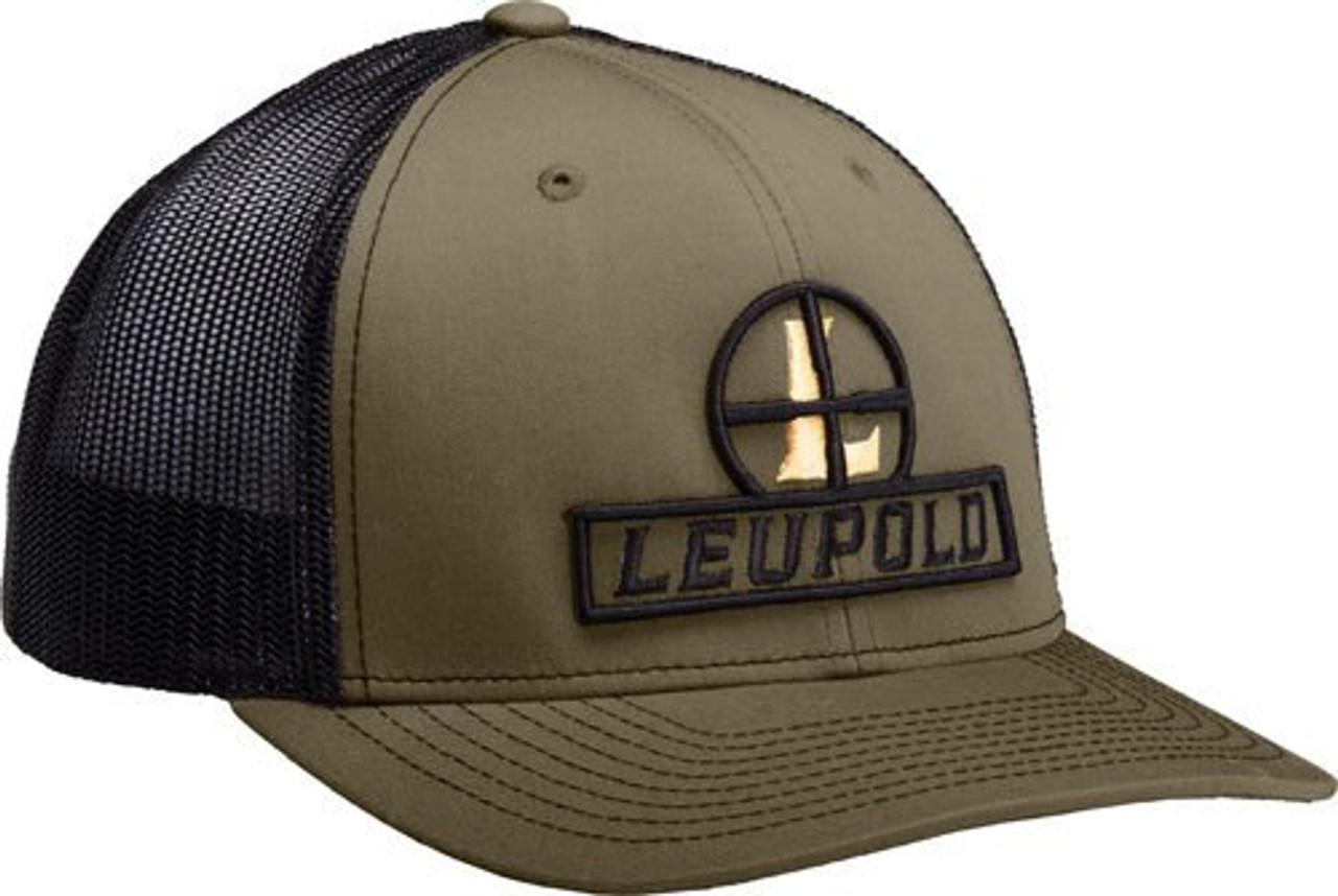 Leupold Reticle Snap Back Trucker Cap Loden Green