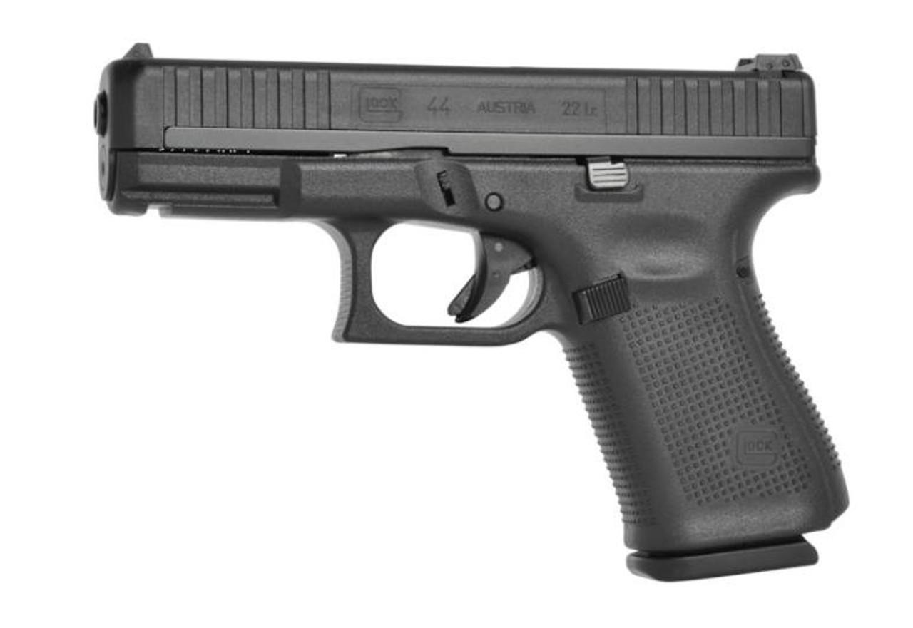 """Glock 44, Striker Fired, Compact Size, 22LR, 4.02"""" Barrel, Polymer Frame, Matte Finish, Adjustable Sights,10Rd, 2 Magazines"""