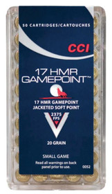 CCI 17HMR Gamepoint 20g, 50rd/Box
