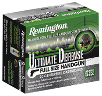 Remington Ultimate Home Defense .357 Mag 125gr, Brass Jacketed Hollow Point, 20rd/Box