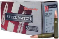 Hornady Steel Match Rifle .308 Winchester 155 Grain Boattail Hollow Point