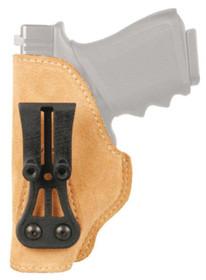 Blackhawk Leather Tuckable Holster Brown Left Hand 1911 Officer's Model