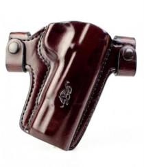 "Kimber Premier Holster Full-size (5"") 1911 QR belt snaps brown leather Kimber logo by Mitch Rosen"