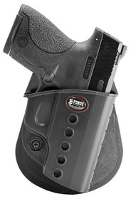 Fobus E2 Paddle Holster, Fits Walther PPD/Taurus 709/ S&W Shield, Right Hand, Black