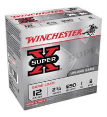 """Winchester Super X Game Shotshells 12 Ga, 2.75"""", 1 oz, 8 Shot, 25rd/Box"""
