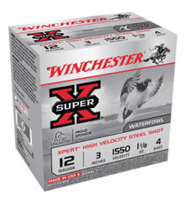 "Winchester Expert Hi-Velocity 12 Ga, 3"", 1-1/8 oz, 4 Shot, 25rd/Box"