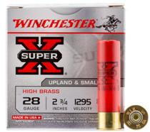 """Winchester Super-X High Brass 28 Ga, 2.75"""", 1295 FPS, .75oz, 5 Shot, 25rd/Box"""