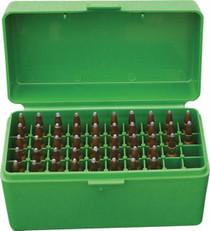 MTM Case Gard Case-Gard 50 Rifle Ammo Boxes .22-250 to .308 Green