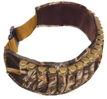 "Allen Shotgun Shell Belt Holds 25 Shells, Adjustable To 58"" Neoprene Shadowgrass Camo"