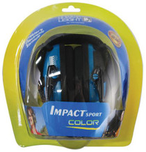 Howard Leight Impact Sport Folding Electronic Earmuff Teal Earcups