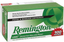 Remington UMC 45 ACP 230gr, Jacketed Hollow Point 100rd/Box