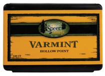 Speer Rifle Bullets Varmint 22 Caliber .224 40 Gr, Spire Soft Point, 100/Box