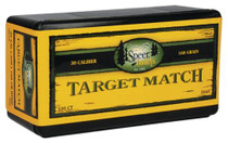 Speer Rifle Bullets Target Match .30 Caliber .308 168 Gr, Hollow Point, Boat Tail, 100/Box