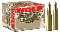 Wolf Performance .308 Win/7.62mm, Bimetal Jacket, 145gr, 500rd/Box