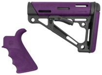 Hogue AR-15/M16 Collapsible Buttstock Kit With Finger Groove Beavertail Grip Purple