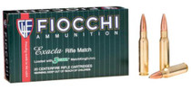 Fiocchi Exacta Rifle Match .308 Win 168gr, Sierra MatchKing, Boat-Tail, Hollow Point, 20rd/Box