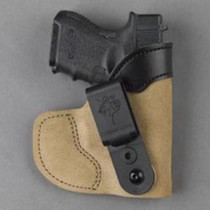 DeSantis Pocket-Tuk Holster, Small/Medium Frame Semi-Autos, Laser, RH, Tan Leather