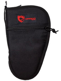 Drago Gear Pistol Case 600D Polyester Zipper Mag Pouch Black