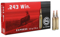 GECO .243 Winchester 76 gr, Express Tip 20rd/Box, 10 Box/Case