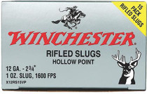 "Winchester Super-X Rifled Lead 12 Ga, 2.75"", 1oz, Slug, 15rd/Box"