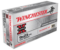 Winchester Ammo Super X 9mmX23mm Win Silvertip HP 125gr, 50Box/10Case