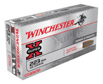 Winchester Super X 223 Rem 55gr, Pointed Soft Point, 20rd Box