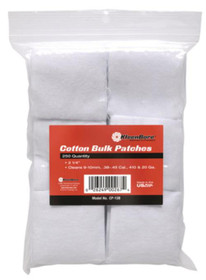 """Kleen-Bore Super Shooter Cotton Patches 2 1/4"""" .38-.45/.4, 250/Pack"""