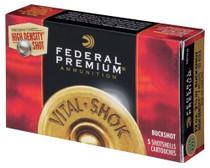 "Federal Vital-Shok High Density Home Defense 12 Ga, 2.75"", 1600 FPS, 9 Pellets 00 Buck, 5rd/Box"