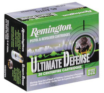 Remington Ultimate Defense Compact Handgun 9mm 124gr, Brass Jacketed Hollow Point 20rd/Box 25 Box/Case