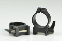 Warne 30mm, QD, Medium Matte Rings, Steel, Fixed for Maxima/Weaver Style or Picatinny Bases