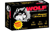 """Wolf Slug Shotshells 12 ga, 2.75"""", 1 oz, 250rd/Case (50 Boxes/Case)"""