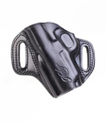 Kimber Concealable holster (left hand) for Ultra-size (3-inch) 1911 models black leather Kimber logo by Galco