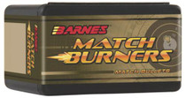 Barnes Match Burner Bullet .22 Caliber .224 Diameter 69 Grain 1:10 Inch Twist Or Faster Recommended Boattail Match